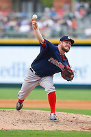 Pawtucket Red Sox relief pitcher Alex Wilson (30) in action against the Charlotte Knights at BB&T Ballpark on August 10, 2014 in Charlotte, North Carolina.  The Red Sox defeated the Knights  6-4.  (Brian Westerholt/Four Seam Images)