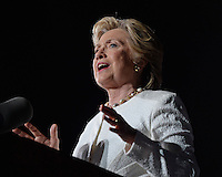 FORT LAUDERDALE, FL - NOVEMBER 01: Democratic Presidential candidate Hillary Clinton speaks during a campaign rally at Reverend Samuel Delevoe Memorial Park on February 1, 2016 in Fort Lauderdale, Florida. Credit: mpi04/MediaPunch