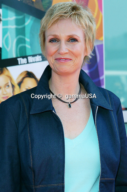 Jane Lynch arriving at the Sleepover Premiere at the Arclight Theatre in Los Angeles. June 27, 2004.