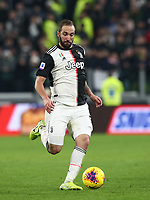 Calcio, Serie A: Juventus - Milan, Turin, Allianz Stadium, November 10, 2019.<br /> Juventus' Gonzalo Higuain in action during the Italian Serie A football match between Juventus and Milan at the Allianz stadium in Turin, November 10, 2019.<br /> UPDATE IMAGES PRESS/Isabella Bonotto
