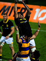 Isaia Walker-Leawere takes lineout ball during the Mitre 10 Cup rugby union match between Bay of Plenty and Wellington at Rotorua International Stadium in Rotorua, New Zealand on Thursday, 31 August 2017. Photo: Dave Lintott / lintottphoto.co.nz