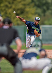 4 September 2017: Vermont Lake Monsters pitcher Argenis Blanco on the mound during the first game against the Tri-City ValleyCats at Centennial Field in Burlington, Vermont. The Lake Monsters split their games, falling 6-5 in the first, then winning the second 7-4, thus clinching the NY Penn League Stedler Division Championship. Mandatory Credit: Ed Wolfstein Photo *** RAW (NEF) Image File Available ***