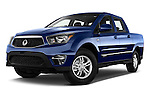 Stock pictures of low aggressive front three quarter view of2014 Ssangyong Actyon Sports Quartz 4 Door Pick Up Low Aggressive