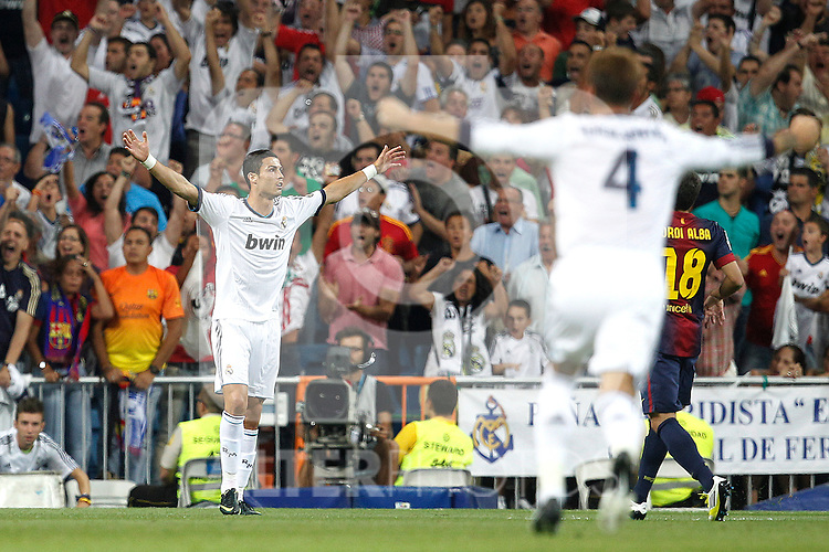 Real Madrid's Cristiano Ronaldo goal during Spanish Supercup 2nd match on august 29 2012...Photo: Cesar Cebolla / ALFAQUI