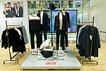 Clothes of the new Uniqlo x Ines de La Fressange AW17 collection on display for sale at Uniqlo store in Ginza on September 5, 2017, Tokyo, Japan. Japanese casual clothing chain Uniqlo and French fashion icon Ines de la Fressange are collaborating with a Fall/Winter 2017 collection which is being sold in selected Uniqlo stores from September 1st. (Photo by Rodrigo Reyes Marin/AFLO)
