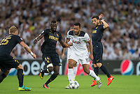 Mousa Dembele of Tottenham Hotspur battles Tiemoue Bakayoko of Monaco during the UEFA Champions League Group stage match between Tottenham Hotspur and Monaco at White Hart Lane, London, England on 14 September 2016. Photo by Andy Rowland.