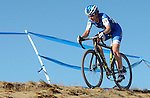 October 17, 2015 - Boulder, Colorado, U.S. - Elite cyclist, Georgia Gould, navigates a difficult off-camber decent during the U.S. Open of Cyclocross, Valmont Bike Park, Boulder, Colorado.
