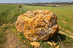 Neolithic prehistoric megalith near Hortas do Tabual, Algarve, Portugal, southern Europe