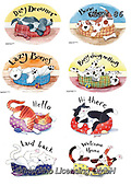 Kate, CUTE ANIMALS, LUSTIGE TIERE, ANIMALITOS DIVERTIDOS, paintings+++++Cats & dogs page 4,GBKM86,#ac#, EVERYDAY
