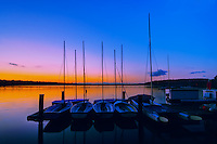 Sailboats on Lake Washington at Coulon Beach in Renton.