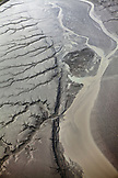 USA, Alaska, Anchorage, aerial view of mud flats near Anchorage