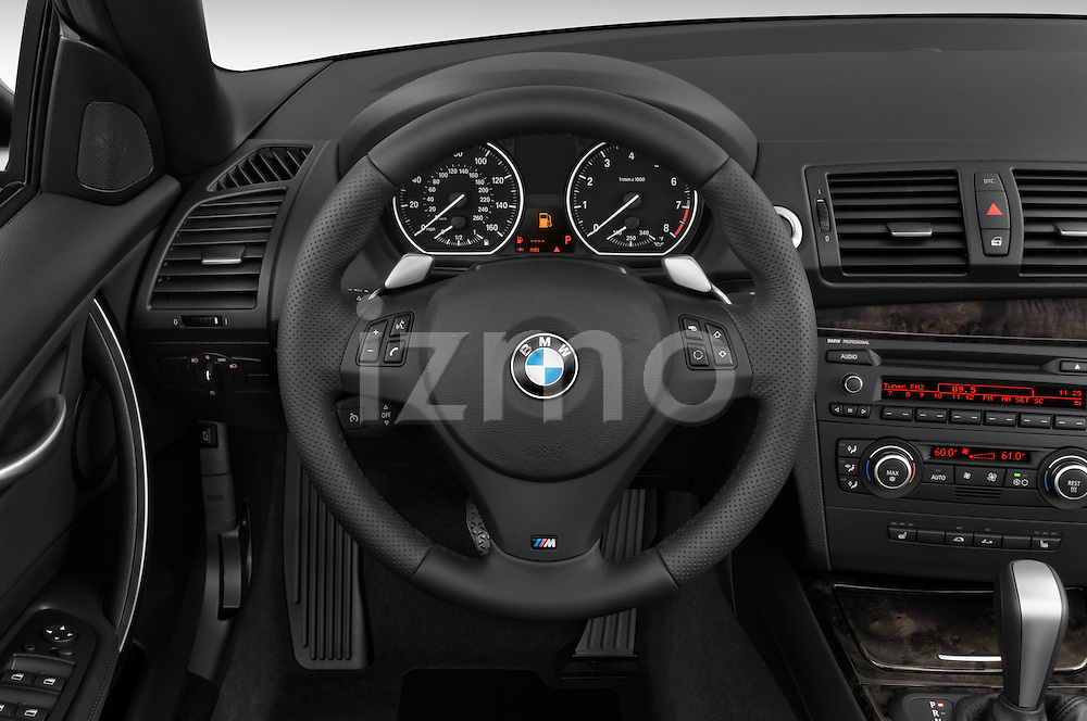 Steering wheel view of a 2007 - 2011 BMW 1-Series 135i convertible.