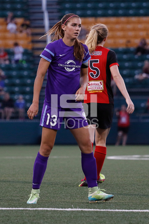 Rochester, NY - Saturday June 11, 2016: Orlando Pride forward Alex Morgan (13) during a regular season National Women's Soccer League (NWSL) match between the Western New York Flash and the Orlando Pride at Rochester Rhinos Stadium.