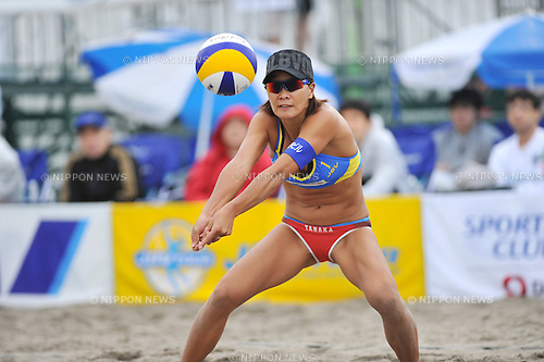Shinako Tanaka (JPN),.MAY 4, 2012 - Beach Volleyball : JBV Tour 2012 Sports Club NAS Open at Odaiba Beach, Tokyo, Japan. (Photo by Jun Tsukida/AFLO SPORT) [0003].