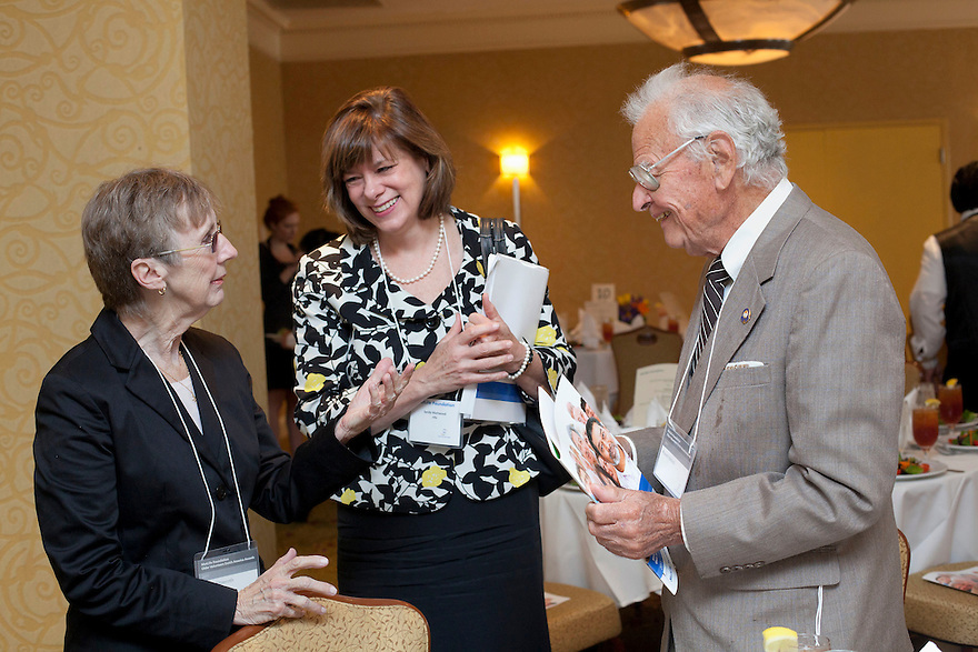 Sandy Markwood, middle, at the Older Volunteers Enrich America Awards at the Double Tree Hotel in Washington, DC on Friday, June 17, 2011.