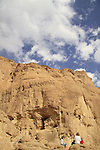 The site of the ancient engravings from the Egyptian period in Timna Valley, 14th-12th centuries BC