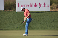 Marcel Siem (GER) in action on the 15th during Round 1 of the Hero Indian Open at the DLF Golf and Country Club on Thursday 8th March 2018.<br /> Picture:  Thos Caffrey / www.golffile.ie<br /> <br /> All photo usage must carry mandatory copyright credit (&copy; Golffile | Thos Caffrey)