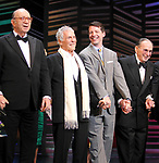 "Neil Simon, Burt Bacharach, Sean Hayes, Hal David take a bow on the  Opening Night Broadway performance Curtain Call for ""PROMISES, PROMISES"" at the Broadway Theatre, New York City.<br />