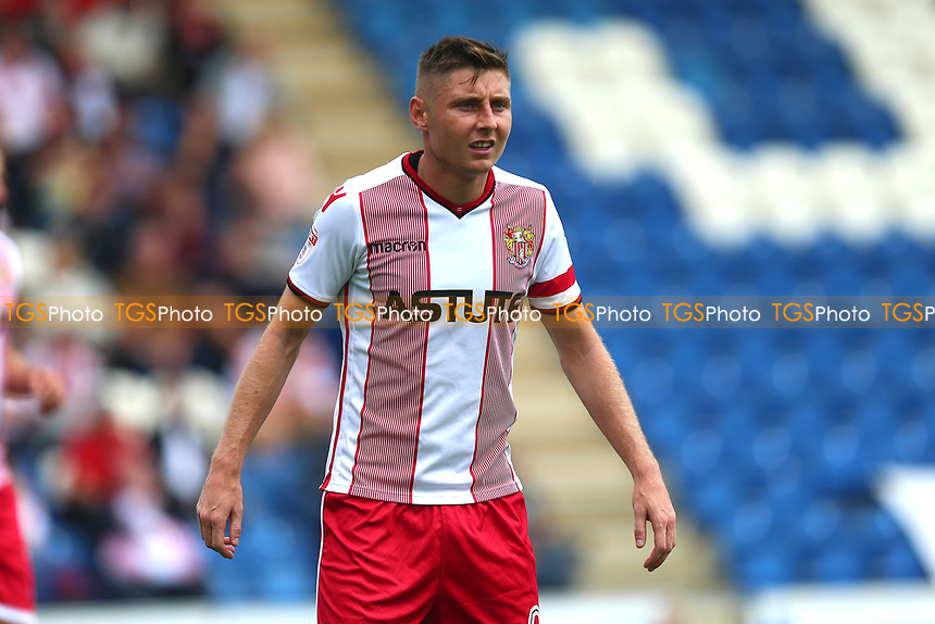 Harry Beautyman of Stevenage during Colchester United vs Stevenage, Sky Bet EFL League 2 Football at the Weston Homes Community Stadium on 12th August 2017