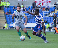 Reading's Andy Yiadom (right) under pressure from Blackburn Rovers' Greg Cunningham (left) <br /> <br /> Photographer David Horton/CameraSport<br /> <br /> The EFL Sky Bet Championship - Reading v Blackburn Rovers - Saturday 21st September 2019 - Madejski Stadium - Reading<br /> <br /> World Copyright © 2019 CameraSport. All rights reserved. 43 Linden Ave. Countesthorpe. Leicester. England. LE8 5PG - Tel: +44 (0) 116 277 4147 - admin@camerasport.com - www.camerasport.com