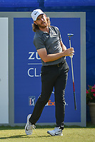 Tommy Fleetwood (ENG) watches his tee shot on 1 during Round 3 of the Zurich Classic of New Orl, TPC Louisiana, Avondale, Louisiana, USA. 4/28/2018.<br /> Picture: Golffile | Ken Murray<br /> <br /> <br /> All photo usage must carry mandatory copyright credit (&copy; Golffile | Ken Murray)