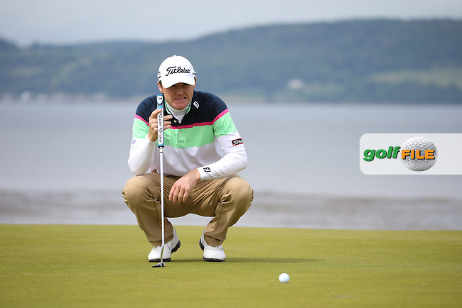 Michael Hoey (NIR) during Round Three of the 2016 Aberdeen Asset Management Scottish Open, played at Castle Stuart Golf Club, Inverness, Scotland. 09/07/2016. Picture: David Lloyd | Golffile.<br /> <br /> All photos usage must carry mandatory copyright credit (&copy; Golffile | David Lloyd)