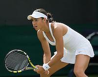 CAROLINE GARCIA (FRA)<br /> <br /> The Championships Wimbledon 2014 - The All England Lawn Tennis Club -  London - UK -  ATP - ITF - WTA-2014  - Grand Slam - Great Britain -  25th June 2014. <br /> <br /> © Tennis Photo Network