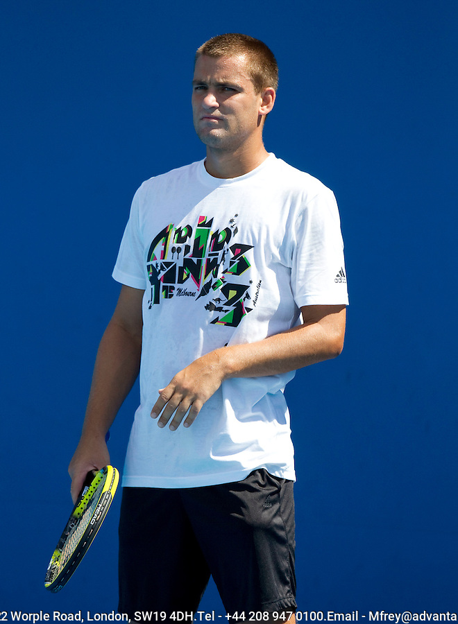 Mikhail Youzhny (RUS) (10) practicing at Melbourne Park. ..... .International Tennis - Australian Open  -  Melbourne Park - Melbourne - Day 4 - Thu 20th January 2011..© Frey - AMN Images, Level 1, Barry House, 20-22 Worple Road, London, SW19 4DH.Tel - +44 208 947 0100.Email - Mfrey@advantagemedianet.com.Web - www.amnimages.photshelter.com