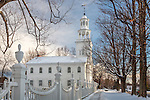 A bright winter day, Old First Church, 1762, Bennington, VT