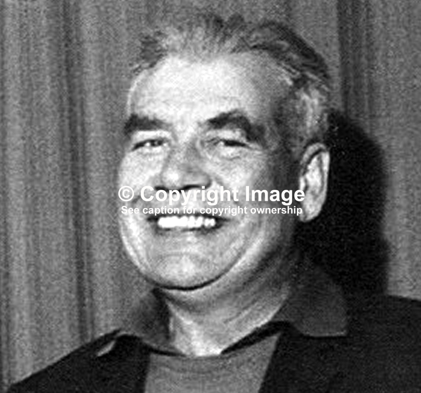 JB O'Hagan, one of 3 Provisional IRA members who escaped by helicopter from Mountjoy Prison, Dublin, Rep of Ireland, on 31 October 1973. The others were Seamus Twomey and Kevin Mallon. 19731105JBOH.<br />