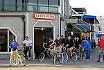 Bicyclists on Balboa Peninsula, Newport Beach