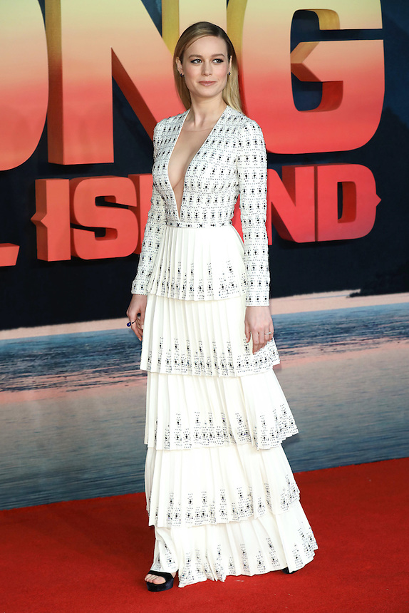 "Brie Larson<br /> arrives for the ""Kong: Skull Island"" premiere, Empire Leicester Square, London.<br /> <br /> <br /> ©Ash Knotek  D3235  28/02/2017"