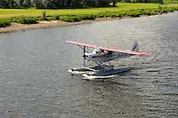 Float plane on the Chena River, Alaska