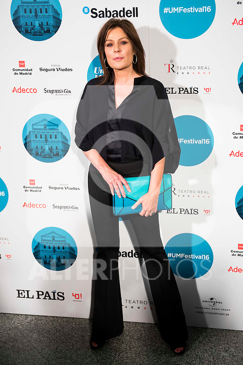 Nuria Gonzalez attends to the photocall of the Rod Stewart concert at Teatro Real in Madrid. July 05. 2016. (ALTERPHOTOS/Borja B.Hojas)