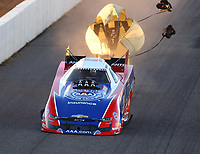 Feb 23, 2019; Chandler, AZ, USA; NHRA funny car driver Robert Hight during qualifying for the Arizona Nationals at Wild Horse Pass Motorsports Park. Mandatory Credit: Mark J. Rebilas-USA TODAY Sports