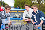 Lisselton rally drivers Eddie Kennelly, TP McNamara and Kieran O'Carroll preparing their car at the Rally of the Lakes registering at Killarney Fire station on Friday ....   Copyright Kerry's Eye 2008