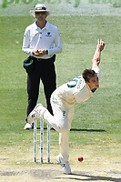 29th December 2019; Melbourne Cricket Ground, Melbourne, Victoria, Australia; International Test Cricket, Australia versus New Zealand, Test 2, Day 4; Pat Cummins of Australia bowls as they close in on the win - Editorial Use
