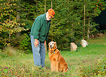 Dick Couch and Gillie, Golden retriever.