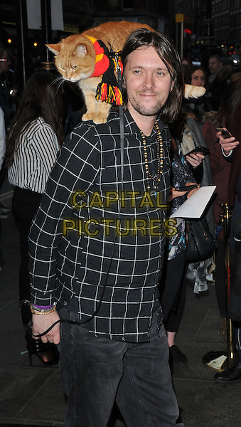 Bob the Cat &amp; James Bowen attend the &quot;People, Places and Things&quot; VIP opening night, Wyndham's Theatre, Charing Cross Road, London, UK, on Wednesday 23 March 2016.<br /> CAP/CAN<br /> &copy;Can Nguyen/Capital Pictures