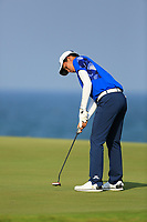 Phachara Khongwatmai (THA) during the first round of the NBO Open played at Al Mouj Golf, Muscat, Sultanate of Oman. <br /> 15/02/2018.<br /> Picture: Golffile   Phil Inglis<br /> <br /> <br /> All photo usage must carry mandatory copyright credit (&copy; Golffile   Phil Inglis)