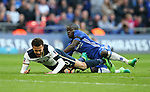 Chelsea's N'Golo Kante tussles with Tottenham's Dele Alli during the FA Cup Semi Final match at Wembley Stadium, London. Picture date: April 22nd, 2017. Pic credit should read: David Klein/Sportimage