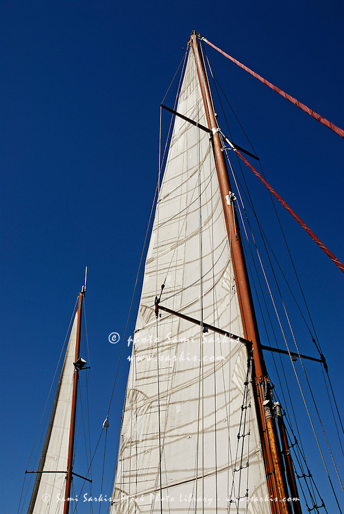 Wooden masts and sails, Cape Town, South Africa
