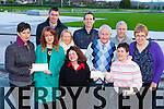 An Riocht athletic club presents the proceeds of the Christmas day mile run to the charities Acquired Brain Injury Ireland, and Oilean Beo front row l-r: Lucia Power ABII, Kate McSweeney, Claire Rohan, Denis Brosnan, Noreen McGuire, Margaret Enright. Back row David McCarthy, Lisa Spogler, Bill Costello and Sean Hanly