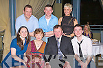 Catherine Ehan, Ardfert celebrated her 60th Birthday with family and friends on Saturday night at the Ballyroe, Tralee. front from left Nuala Cowan, Catherine Egan, Brian Egan, Brian Egan Jnr..Back from left, Stephen Cowan, John Egan and Linda Murphy.