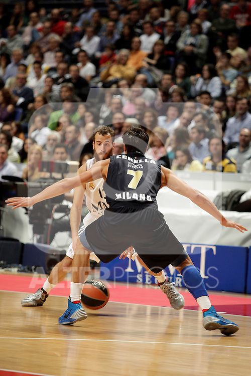 Real Madrid´s Sergio Rodriguez  during Euroleague Basketball match. November 01,2013. (ALTERPHOTOS/Victor Blanco)