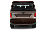 Straight rear view of 2016 Volkswagen Caravelle Comfortline 5 Door Minivan Rear View  stock images