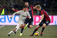 Paulo Dybala of Juventus and Roberto Soriano of Bologna and Filip Helander of Bologna compete for the ball during the Italy Cup 2018/2019 football match between Bologna and Juventus at stadio Renato Dall'Ara, Bologna, January 12, 2019 <br />  Foto Andrea Staccioli / Insidefoto