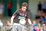 Mike Burke Milltown-Castlemaine in action against  Saint Brendans in the First Round of the Kerry Senior Football Championship at Milltown on Sunday.