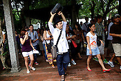 Manila's treasured tour guide, cultural activist, and performing artist, Carlos Celdran leads his tour group in Fort Santiago, Intramuros in Manila, Philippines. Carlos is also considered one of the best travel guides in the world. Photo: Sanjit Das