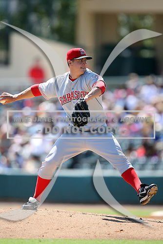 April 15, 2009:  Pitcher Zachary Zach Stewart (2) of the Sarasota Reds, Florida State League Class-A affiliate of the Cincinnati Reds, during a game at Roger Dean Stadium in Jupiter, FL.  Photo by:  Mike Janes/Four Seam Images